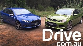 Ford Falcon XR8 v HSV Clubsport 2015 Comparison | Drive.com.au