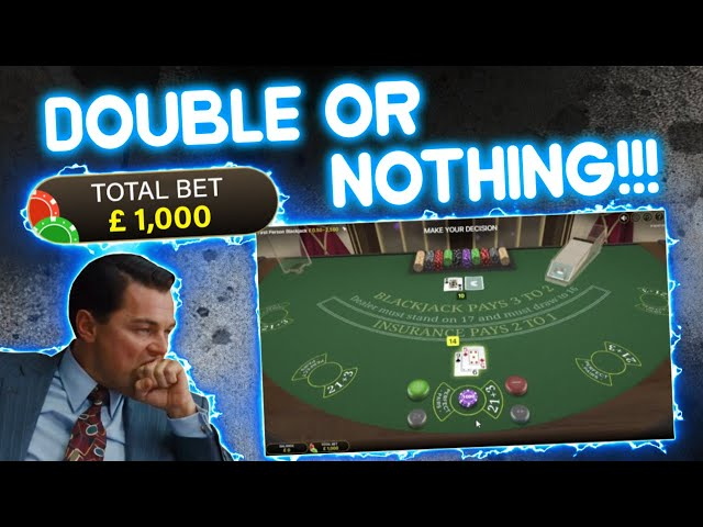 £1,000 Double or Nothing Computer Blackjack Hand!!