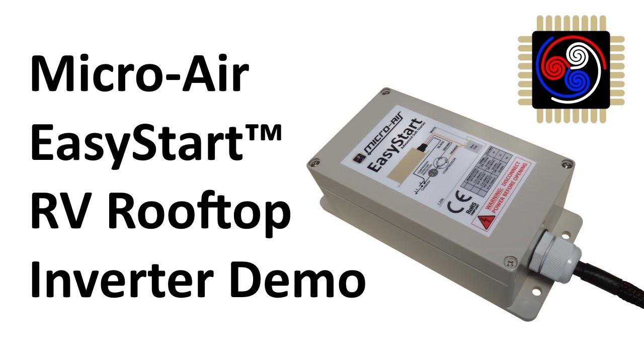 Micro Air Easystart Soft Starter Demonstration On Inverter Youtube Start For Power Supply