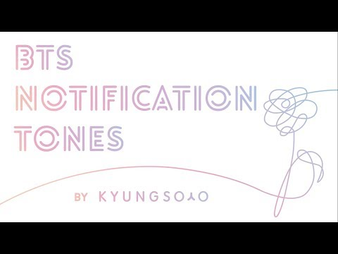 BTS (방탄소년단) 2016-2017 NOTIFICATION TONES w/ DL links