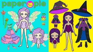 Download Paper Dolls Dress Up   Fairy & Witch Dresses   Mother & Daughters   Handmade Quiet Book Mp3 and Videos