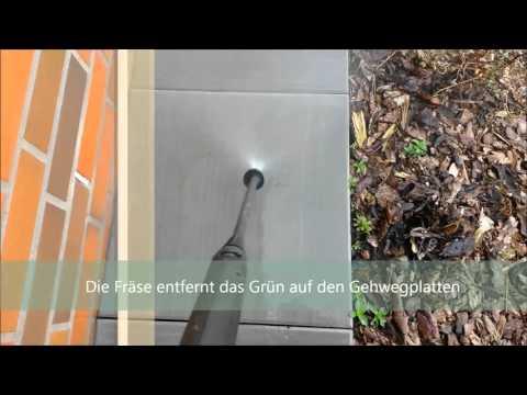 hochdruckreiniger test gehwegplatten von algen befreien youtube. Black Bedroom Furniture Sets. Home Design Ideas