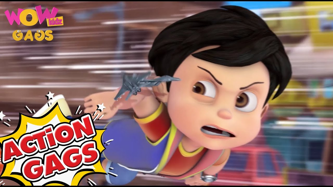 Vir The Robot Boy In Hindi | New Action Gags 05| Cartoons for Kids | Wow Kidz Gags