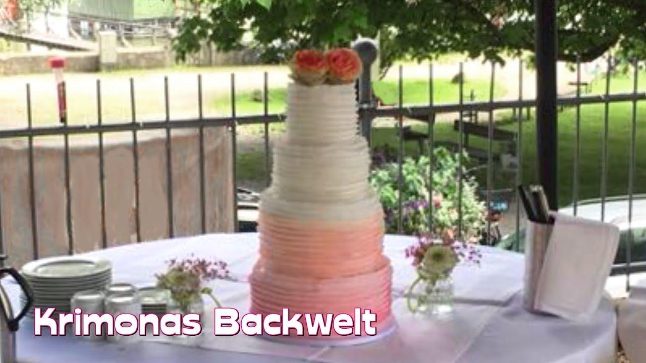 4 Stockige Hochzeitstorte Stapeln Dekorieren How To Pile