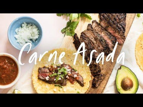 Easy CARNE ASADA Weeknight Tacos!
