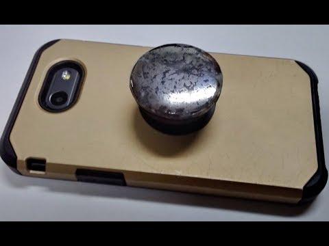 Pop Socket made of natural silver