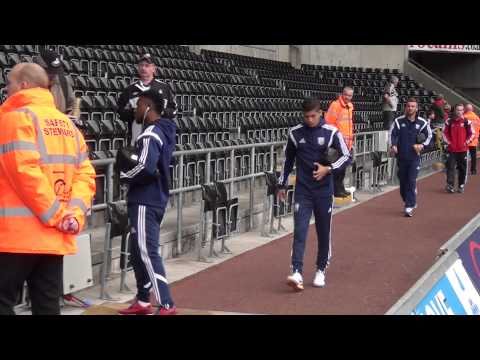 West Bromwich Albion arrive at the Liberty Stadium ahead of Premier League fixture with Swansea City