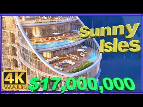 【4K】WALK Sunny Isles Beach walking tour, Florida 4k USA 2019