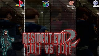 Resident Evil 2 | PS1 vs N64 vs Dreamcast vs Gamecube Comparison | Port vs Port [ Kelphelp ]