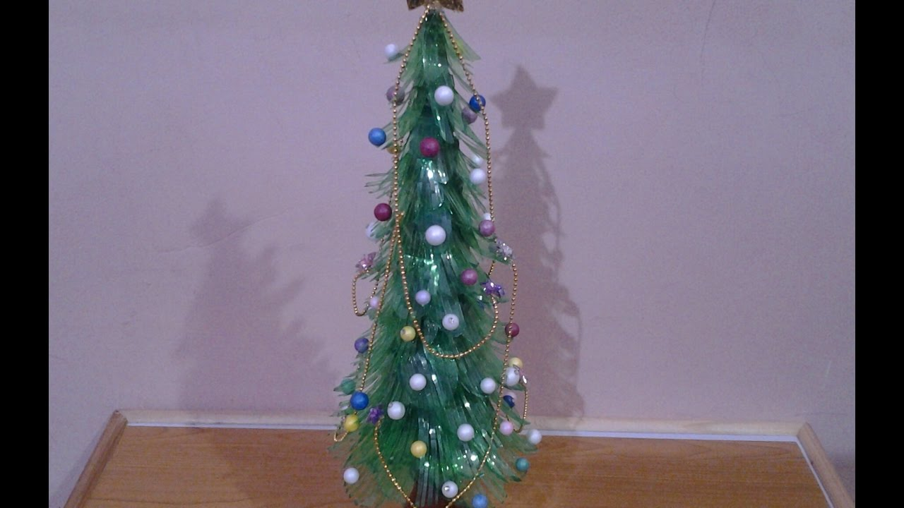 Best out of waste plastic bottles christmas tree youtube for Best use of waste