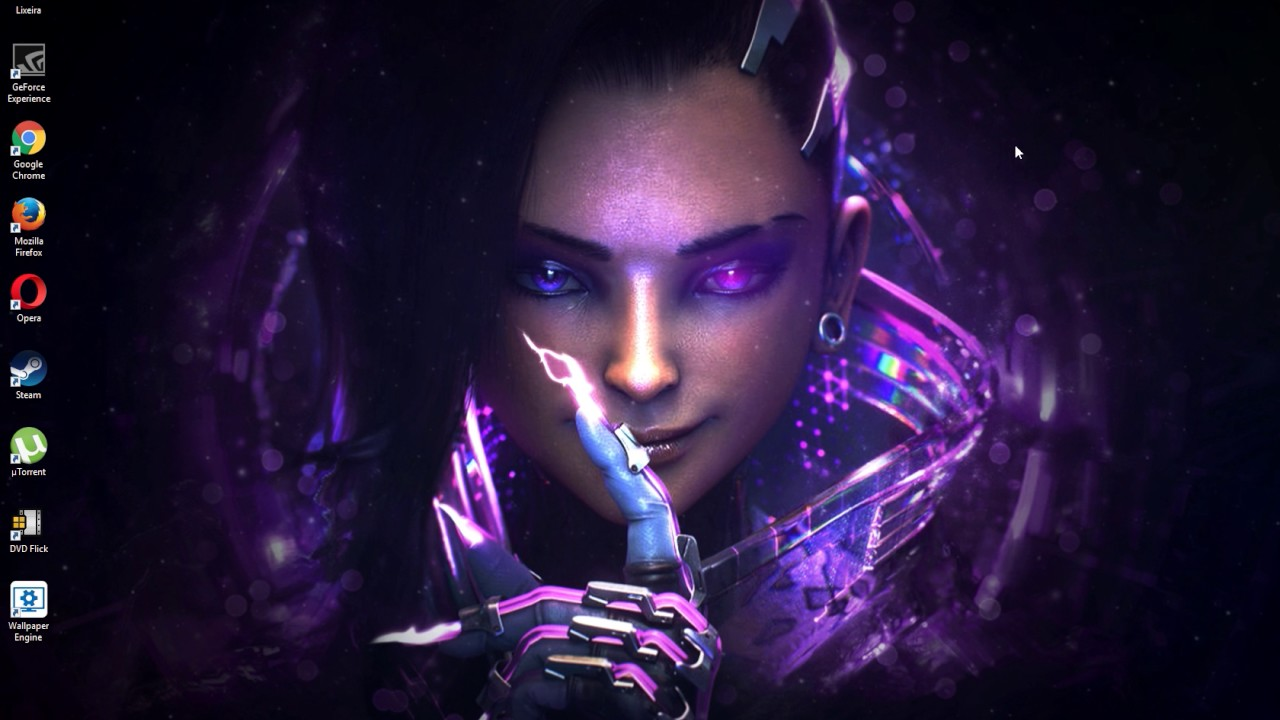 Free Hd Animated Wallpapers For Windows 7 Wallpaper Engine Sombra Overwatch Youtube