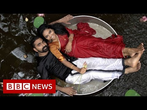 The rise of India's viral wedding photoshoots – BBC News