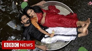 The rise of India's viral wedding photoshoots - BBC News
