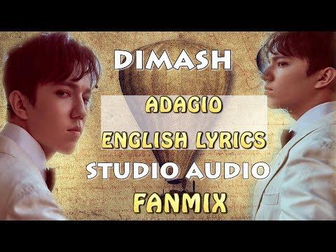 DIMASH - ADAGIO ( LYRICS) - AUDIO - FAN TRIBUTE