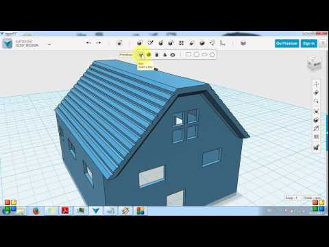 Autodesk 123d modeling a simple house part 1 youtube for Autodesk online home design