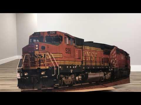 BNSF 526 Train Cardboard Cutout