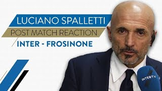 "INTER 3-0 FROSINONE | LUCIANO SPALLETTI INTERVIEW: ""We must always show this attitude"""