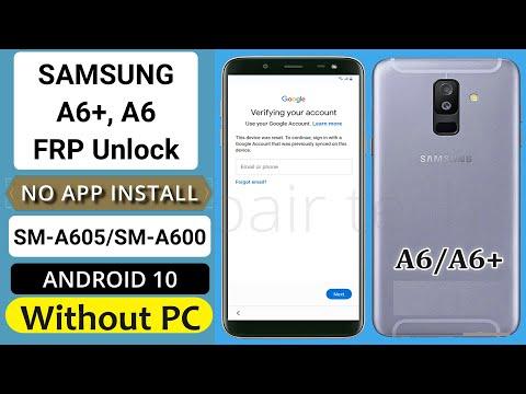Samsung Galaxy A6+/A6 FRP Bypass/Google Lock Remove App Not Installed Without PC 2021- FRP Bypass DM