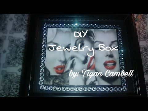 Diy (Jewelry Box) using Dollar tree picture frames