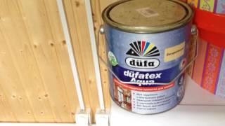 видео покраска стен в деревянном доме