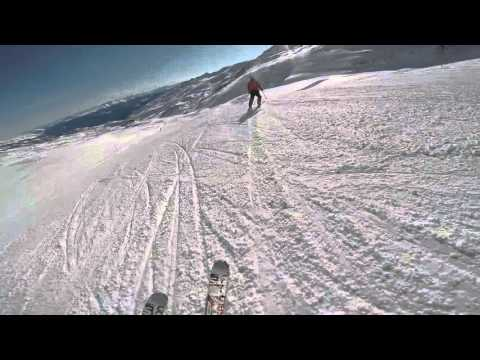 Skiing at flims laax switzerland