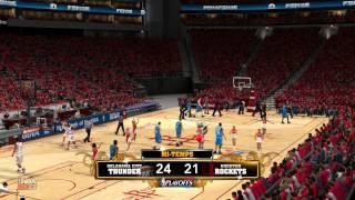 NBA 2K13 : Gaming Live Playoffs - Thunder vs Rockets (HD)