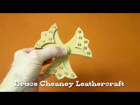 Leather Fidget Spinner - DIY - Leatherworking - Part 1