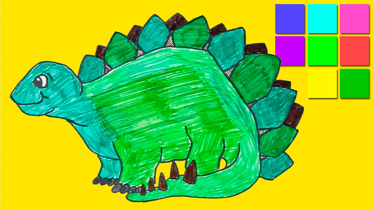 Dinosaur Coloring Pages For Kids Colorful Hero Disney Online