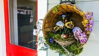 Ken Wingard's Diy Springtime Bushel Wreath