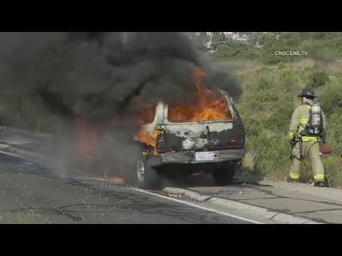 San Diego: Hwy 94 Vehicle Fire 09042019