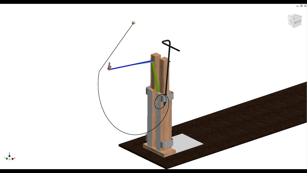 Autodesk Inventor Dynamic Simulation Of An Enhanced Trebuchet Youtube Diagram Our
