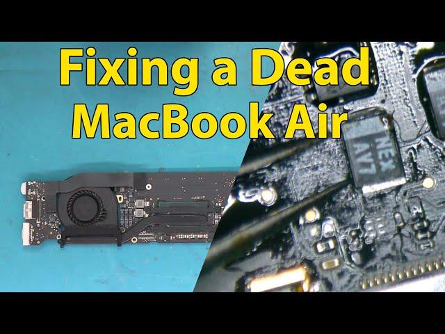 Repairing a Dead  MacBook Air A1466 2017 - Easy Fix