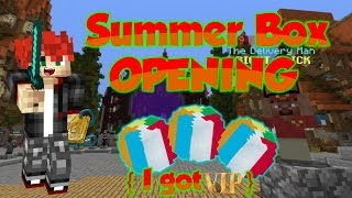 Minecraft Hypixel Summer Box Opening - I GOT VIP RANK!!!