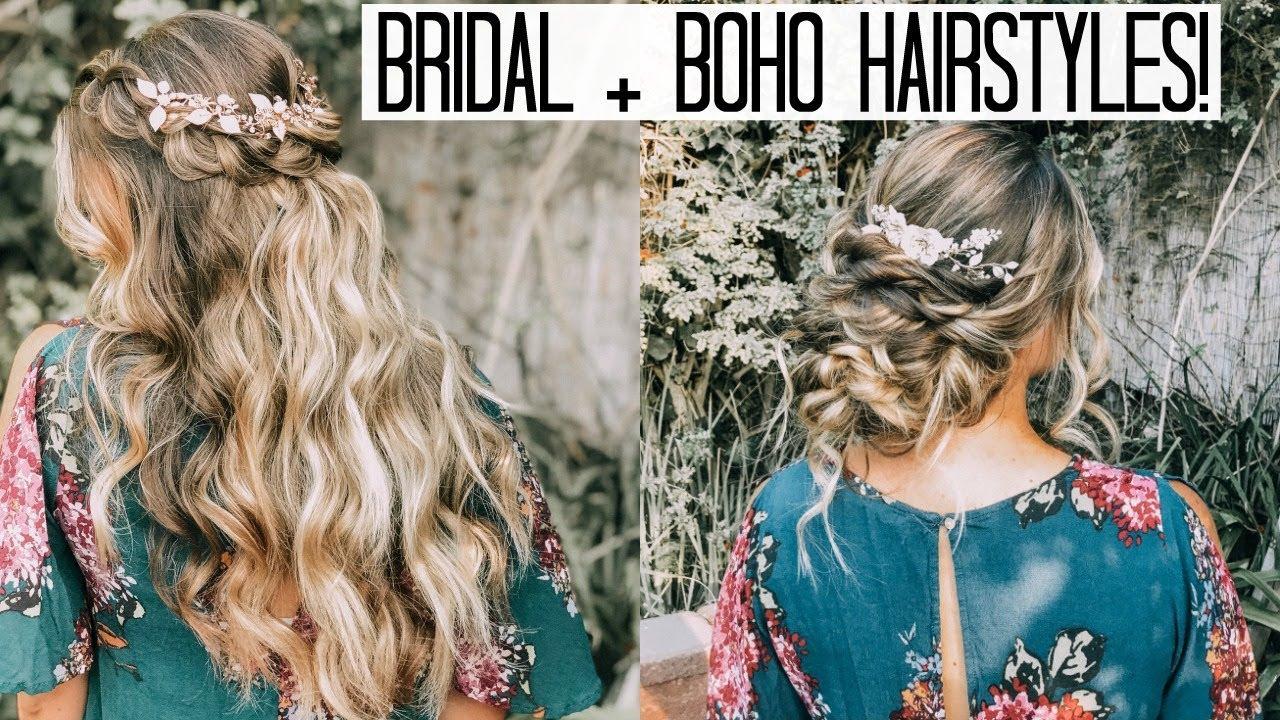 bridal boho hairstyles! wedding series video #4 | lauren lebouef