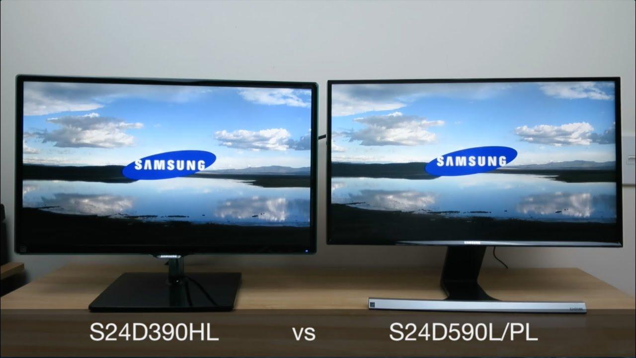 Samsung S24d390hl Vs S24d590pl Review And Comparison Youtube