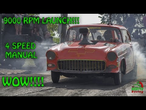 9000rpm Launch, 4 Speed Manual,  What a Hot Rod Showing Off For Memphis Street Outlaws (4k)