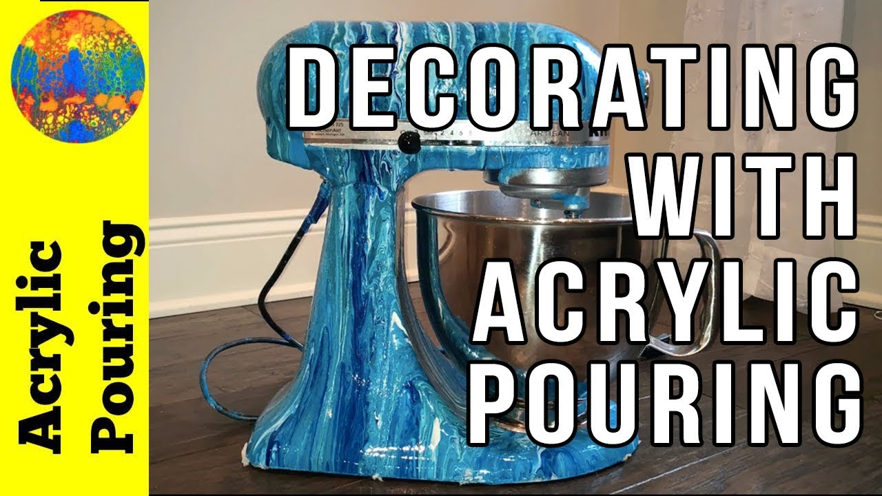 Not Your Average Pour: Decorating My KitchenAid Mixer - YouTube