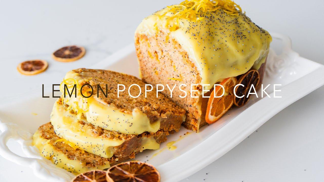 Lemon Poppy Seed Cake / BEST VEGAN CAKE EVER! / 레몬 케이크 / レモンケーキ / 柠檬蛋糕 4K video (subs)