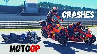 MotoGP Motegi CRASHES #JapaneseGP   MotOGP 2019 on MotoGP 19 PC GAME