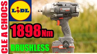 LIDL clé à chocs PARKSIDE PERFORMANCE BRUSHLESS 20V 1898 Nm X20VTEAM déboulonneuse IMPACT WRENCH