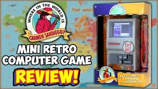Where In The World Is Carmen Sandiego Classic Computer Game Handheld! REVIEW