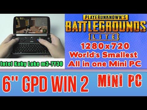 GPD WIN 2 PUBG Lite On Handheld Mini PC - 256 GB SSD 8GB RAM Intel Core M3-7Y30 HD 615