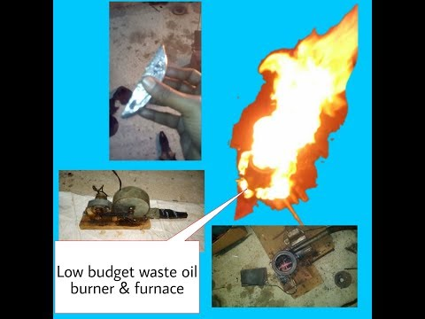 How to make a low price waste oil furnace and burner