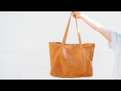 Sewing A Simple Women's Leather Tote Bag