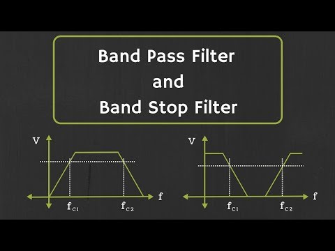 Band Pass Filter And Band Stop Filter Explained Youtube