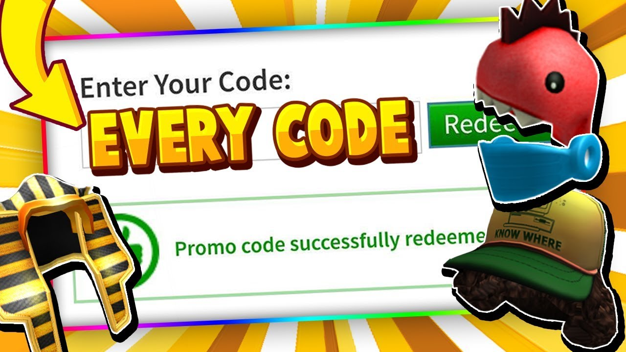 EVERY ROBLOX PROMO CODE! (2014 - 2020) - Roblox December ... on Promo Code Roblox id=57104