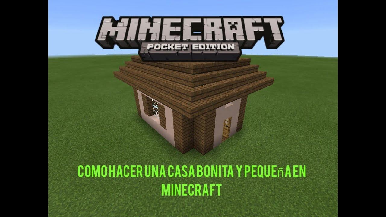 Como hacer una casa bonita y peque a en minecraft for Como disenar una casa pequena