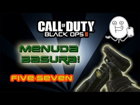 BLACK OPS 2, HIJACKED, FIVE SEVEN, Basuraaa!!