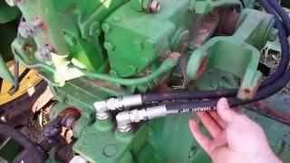 John deere 3020 4020 5020 rear service hydraulic hose replacement