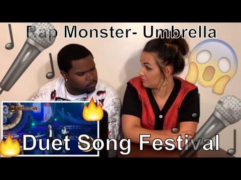 Rap Monster (BTS) - Umbrella, Duet Song Festival (COUPLE REACT)